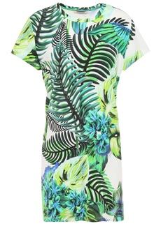 Roberto Cavalli Woman Printed Stretch-jersey Mini Dress Bright Green