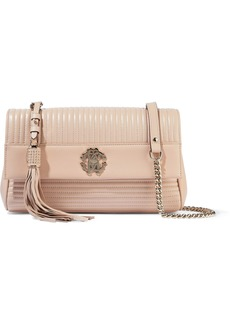Roberto Cavalli Woman Quilted Leather Shoulder Bag Blush