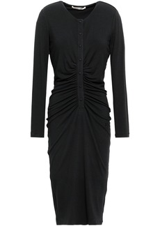 Roberto Cavalli Woman Ruched Stretch-jersey Dress Black