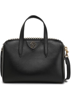 Roberto Cavalli Woman Studded Leather Shoulder Bag Black