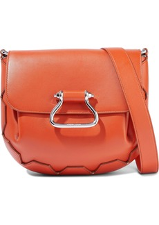 Roberto Cavalli Woman Studded Leather Shoulder Bag Bright Orange