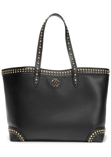Roberto Cavalli Woman Studded Leather Tote Black