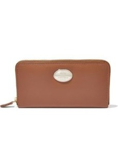 Roberto Cavalli Woman Textured-leather Continental Wallet Tan