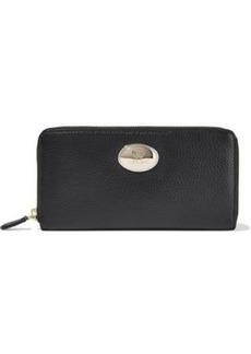 Roberto Cavalli Woman Textured-leather Continental Wallet Black