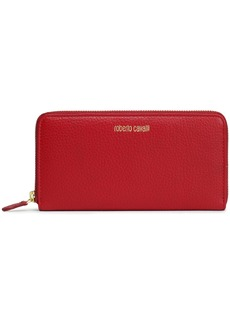 Roberto Cavalli Woman Textured-leather Wallet Brick