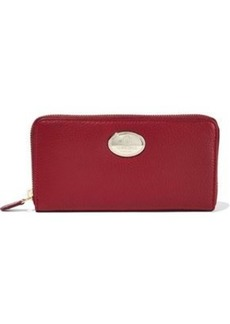 Roberto Cavalli Woman Textured-leather Wallet Burgundy
