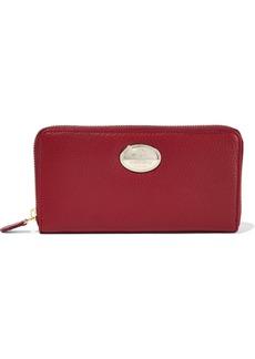 Roberto Cavalli Woman Textured-leather Wallet Burgundy