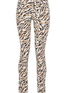 Roberto Cavalli Woman Printed Low-rise Skinny-leg Jeans Animal Print