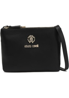 Roberto Cavalli Woman Trio Logo-embellished Leather Shoulder Bag Black