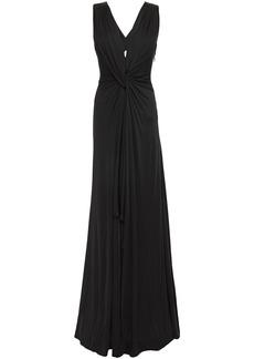 Roberto Cavalli Woman Twist-front Jersey Gown Black