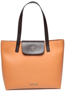 Roberto Cavalli Woman Two-tone Leather Tote Camel