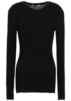 Roberto Cavalli Woman Wool And Cashmere-blend Top Black