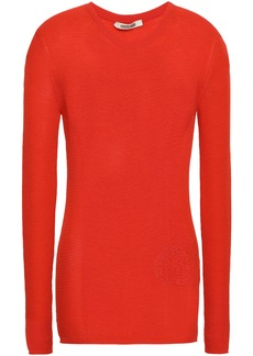 Roberto Cavalli Woman Wool And Cashmere-blend Top Red
