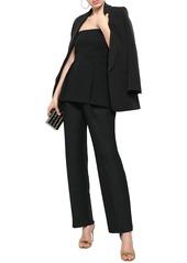Roberto Cavalli Woman Wool And Mohair-blend Straight-leg Pants Black
