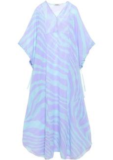 Roberto Cavalli Woman Zebra-print Silk-voile Kaftan Lavender
