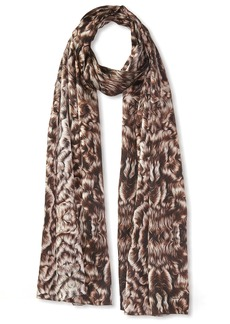 ROBERTO CAVALLI Women's Feather Silk Scarf