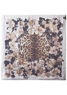 ROBERTO CAVALLI Women's Patterned Scarf Brown/White