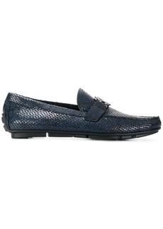 Roberto Cavalli woven loafers - Blue