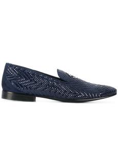 Roberto Cavalli woven slipper loafers - Blue