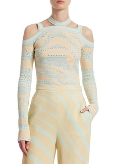 Roberto Cavalli Zebra Knit Top