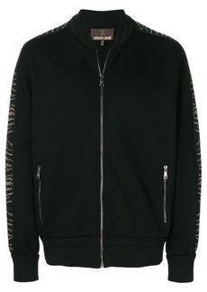 Roberto Cavalli zip front sweatshirt - Black