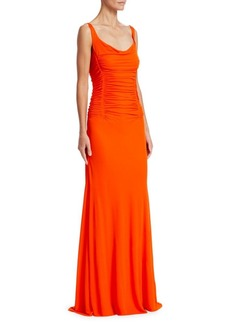 Roberto Cavalli Ruched Jersey Gown