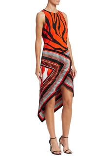 Roberto Cavalli Silk Print Scarf Dress