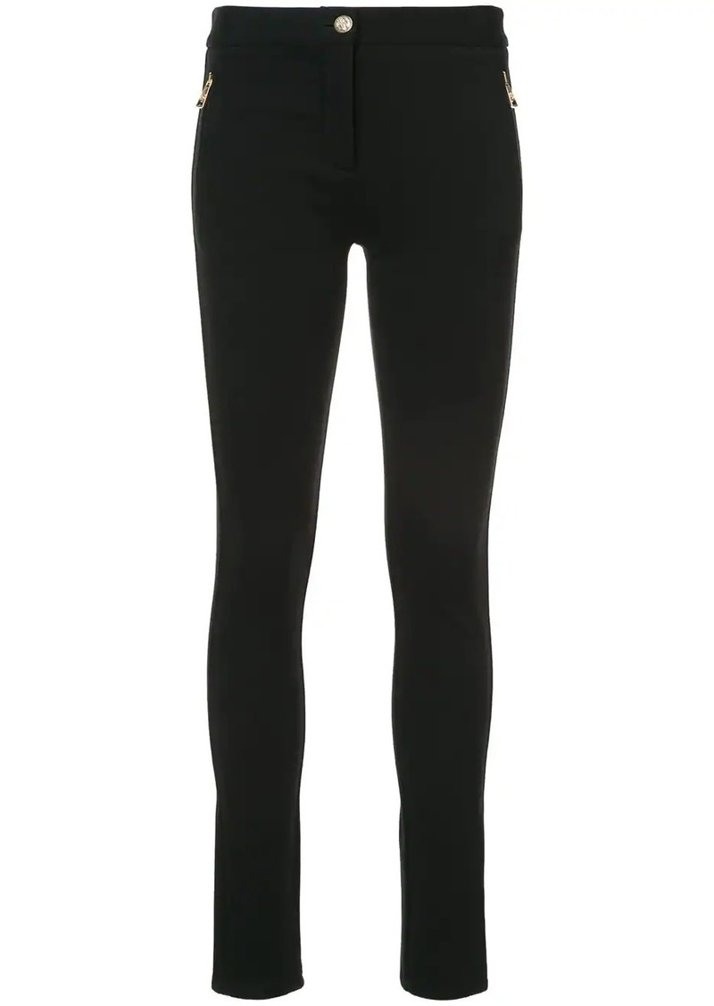 Roberto Cavalli skinny side zip trousers