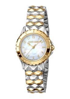 Roberto Cavalli Small Pyramid-Bracelet Watch  Gold/Steel
