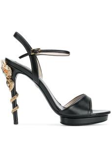 Roberto Cavalli snake embellished heeled sandals