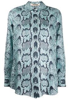 Roberto Cavalli snake-print blouse