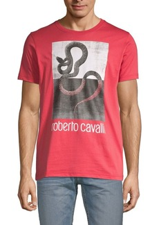 Roberto Cavalli Snake-Print Graphic Tee