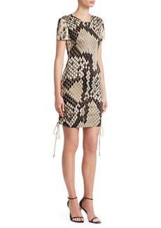 Roberto Cavalli Snakeskin Tee Shift Dress