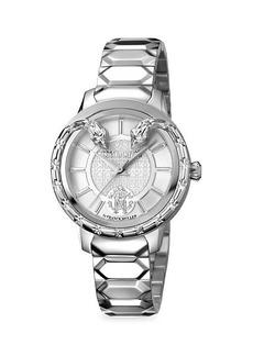 Roberto Cavalli Stainless Steel Silvertone Dial Watch