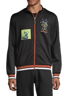 Roberto Cavalli Striped & Patchwork Track Jacket