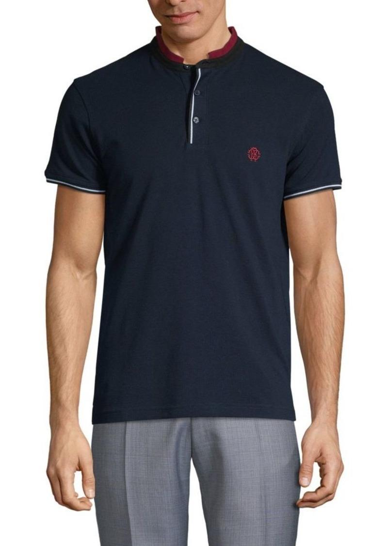 Roberto Cavalli Striped Short-Sleeve Polo