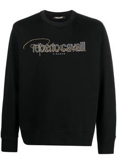 Roberto Cavalli stud-embellished logo print