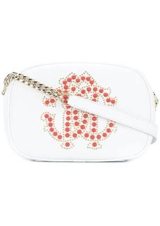 Roberto Cavalli studded logo shoulder bag