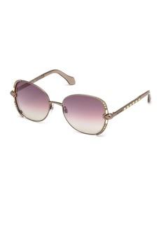 Roberto Cavalli Subra Square 56mm Sunglasses