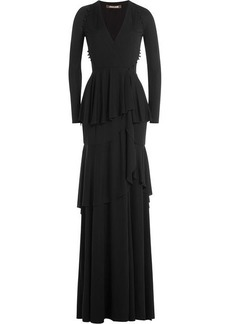 Roberto Cavalli Tiered Evening Gown