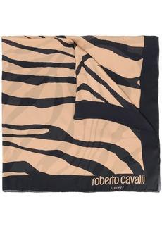 Roberto Cavalli tiger print scarf