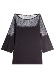 Roberto Cavalli Top with Lace