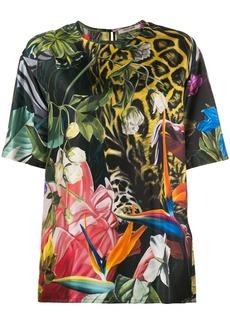 Roberto Cavalli Tropical print T-shirt