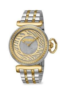 Roberto Cavalli Two-tone Stainless Steel Bracelet Watch