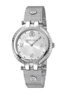 Roberto Cavalli Women's Analog Quartz Mesh Bracelet Watch, 40mm
