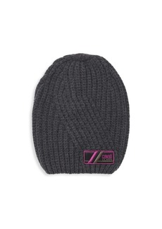 Roberto Cavalli Wool Ribbed Knit Beanie