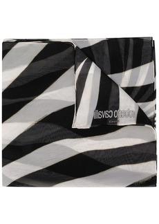 Roberto Cavalli zebra pattern scarf