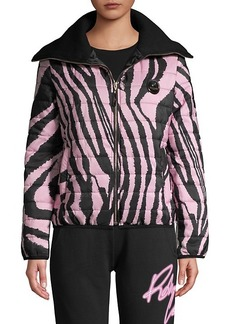 Roberto Cavalli Zebra-Print Puffer Jacket