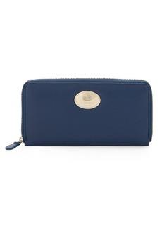 Roberto Cavalli Zip-Around Leather Wallet