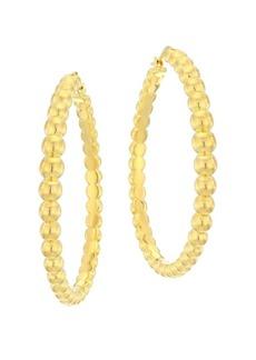 Roberto Coin 18K Beaded Hoop Earrings